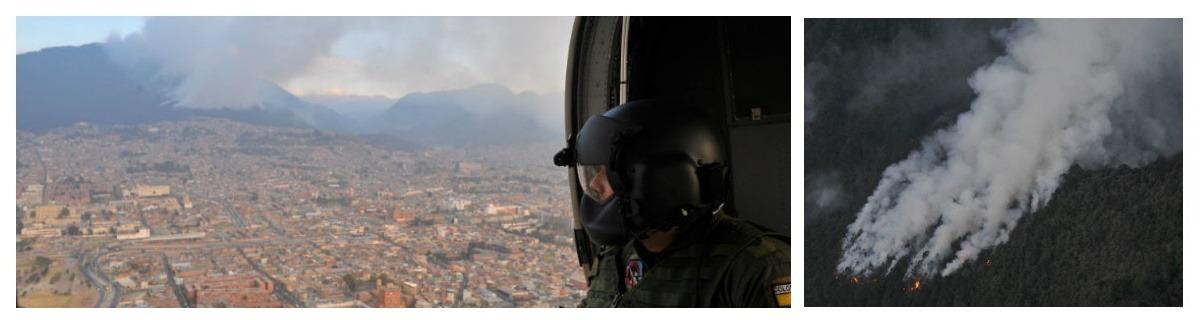 90% de incendios forestales los produce la mano humana: Director Bomberos Bogotá