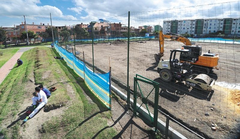 Obras para recreación y deporte en Bogotá